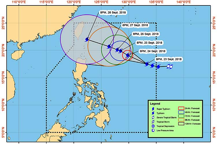 Trami intensifies into a typhoon, moves closer to PH