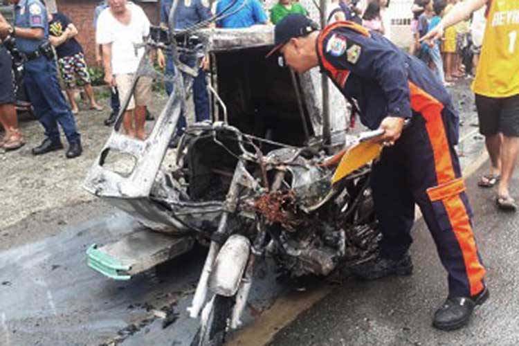 Trike with crackers, pyrotechnics burns in Bulacan town