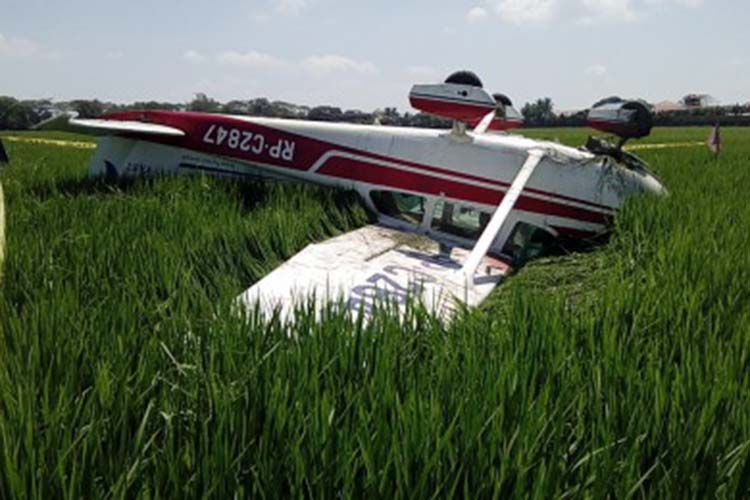 Pilot-teacher, student survive Cessna plane crash in Nueva Ecija
