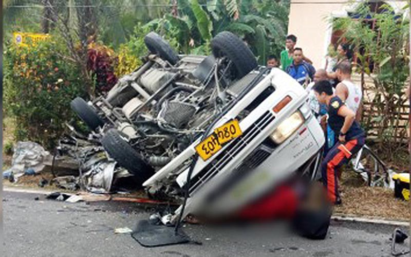 8 killed, 11 wounded in Leyte's van-truck collision