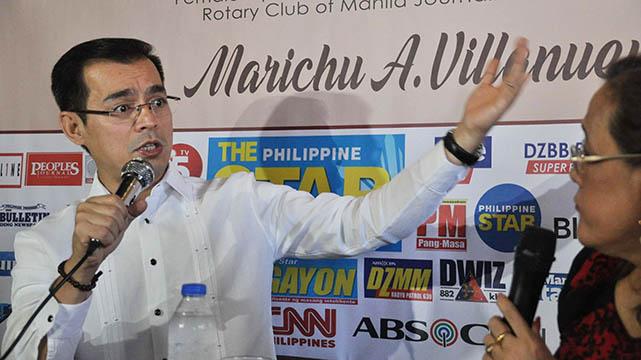 "Manila City Mayor Francisco ""Isko Moreno"" Domagoso issues a warning against barangay (village) officials who are involved in unscrupulous activities during the weekly 'Kapihan sa Manila Bay'"