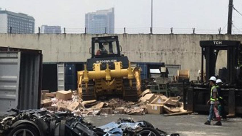 BOC destroys P157-M worth of cigarette-making machines, Ferrari