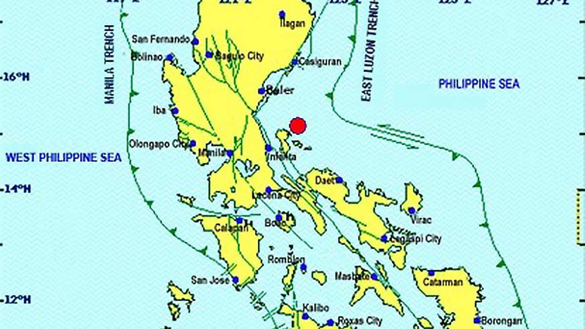Magnitude 5.5 quake jolts Quezon