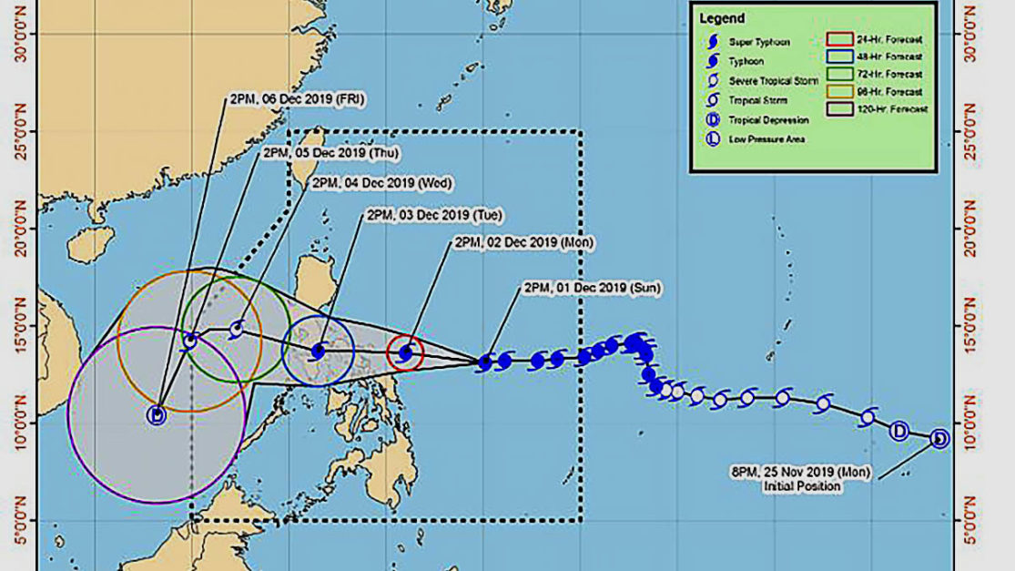 Signal No. 1 in 11 areas as 'Tisoy' approaches Visayas, Luzon