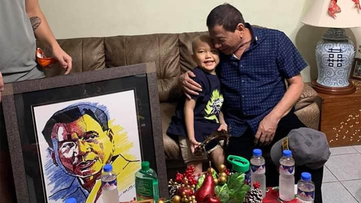 Duterte entertains 5-year-old boy with leukemia