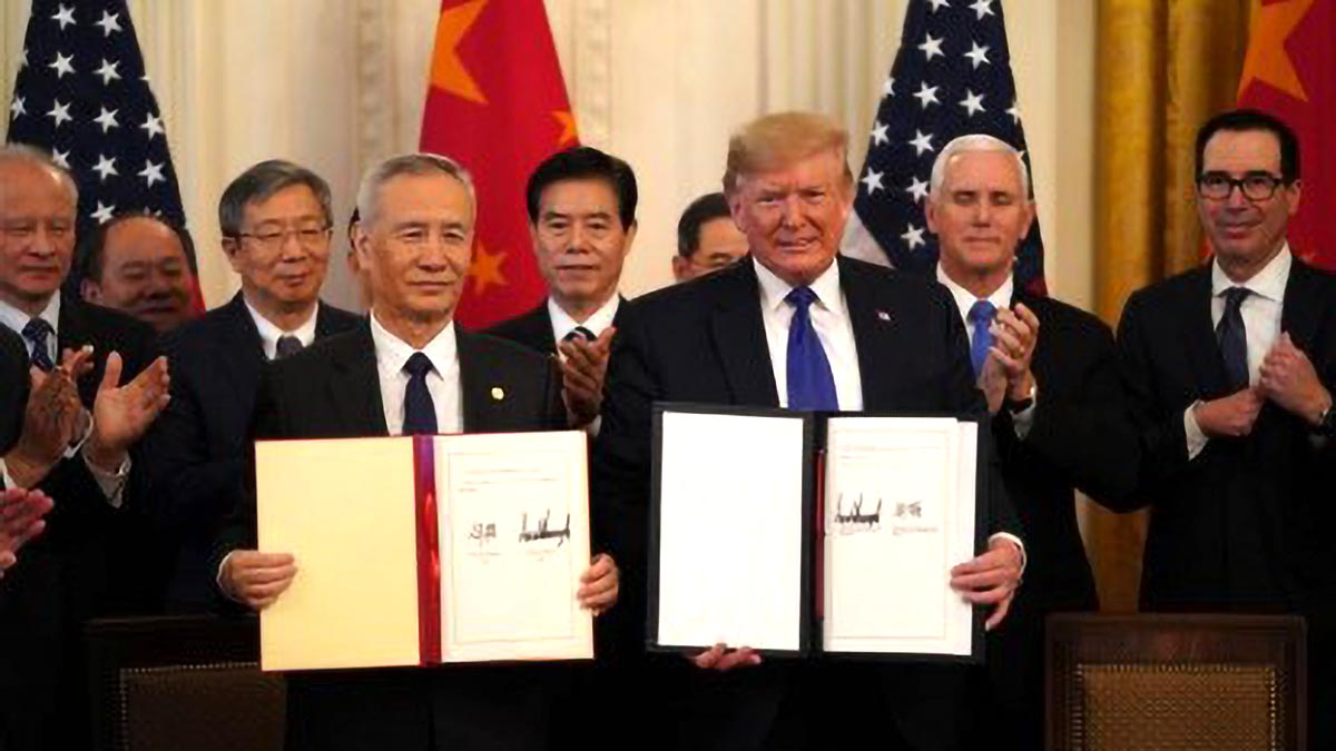 US, China sign initial trade deal
